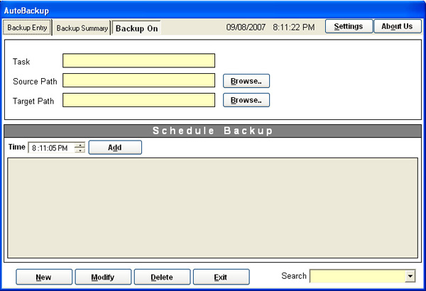 Click to view Backup Engine screenshots